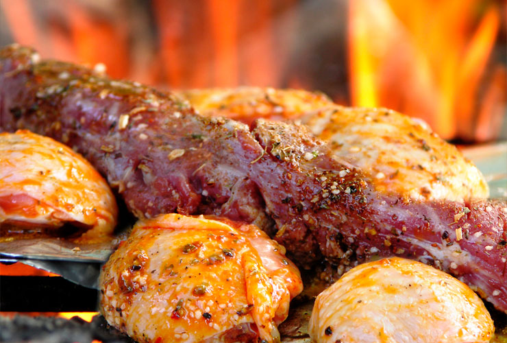 Wodstone grilled meats, seafoods and crustacians cooked to perfection, just one of the many choices at Flames!